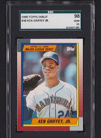 1990 Topps Debut Ken Griffey Jr 46 Sgc 98 Baseball Cards